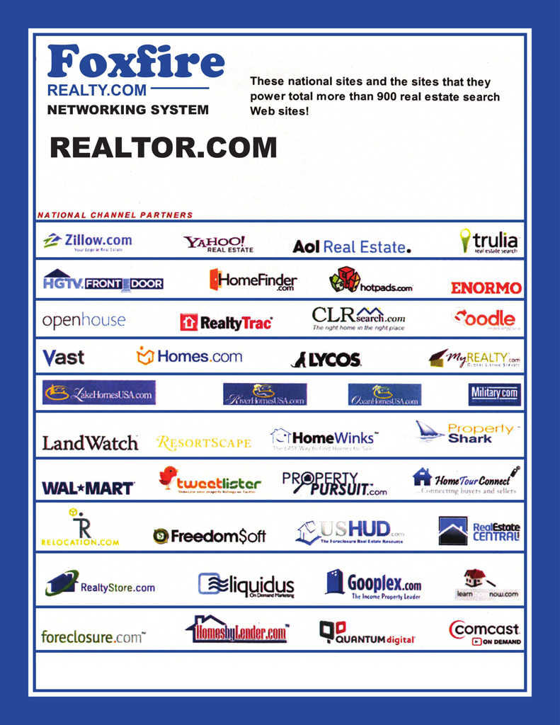 4B - Foxfire Realty websites & pushed to more sites-1